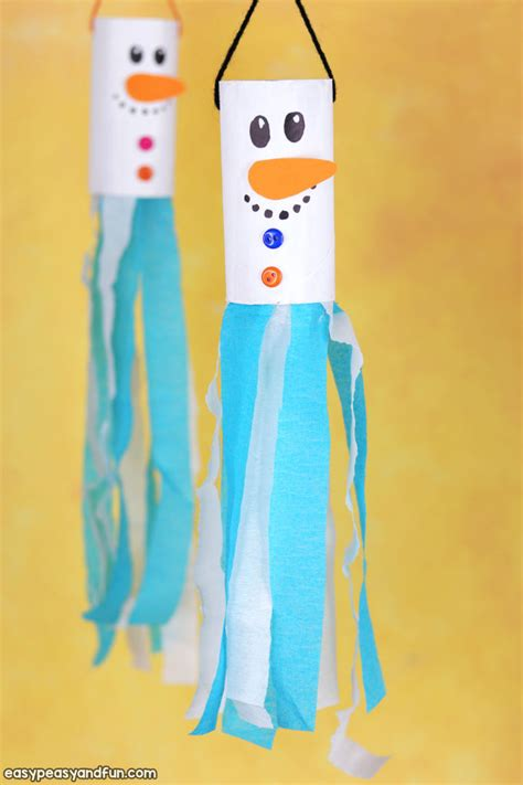 snowman windsock toilet paper roll craft pictures