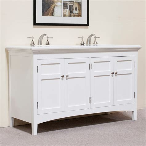 60 Inch White Bathroom Vanity Marble Top White 60 Inch Sink Vanity Contemporary Bathroom Vanities And Sink Consoles