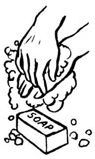 Wash Your Hands Coloring Page - wash your hands clipart best
