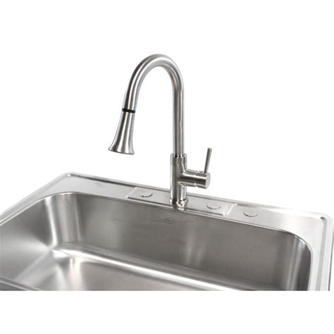 single bowl kitchen sink top mount 33 inch stainless steel top mount drop in single bowl