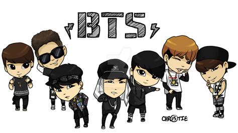 Kpop Chibi Drawing by Bangtan Bts Chibis By Chaixing On Deviantart