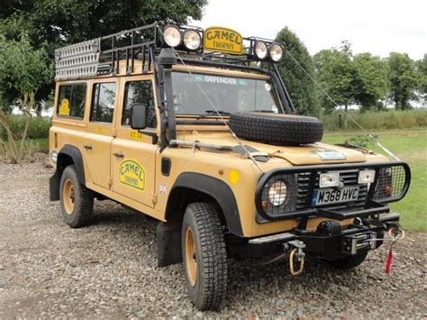 land rover camel land rover 110 defender original camel trophy ebay