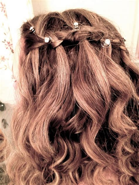 homecoming hairstyles waterfall braid waterfall braid waterfall braid prom hair pretty