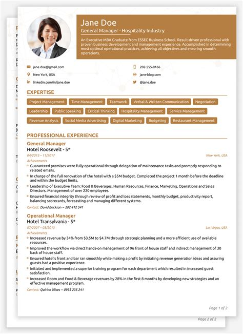 Resume With Photo Template by 2018 Cv Templates Create Yours In 5 Minutes