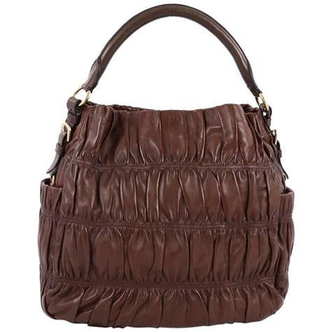 Prada Nappa Gaufrean Hobo by Prada Gaufre Side Pocket Hobo Nappa Leather Large At 1stdibs