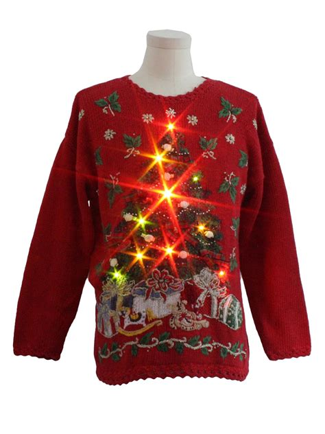 ugly christmas sweater with lights lightup ugly christmas sweater heirloom collectibles
