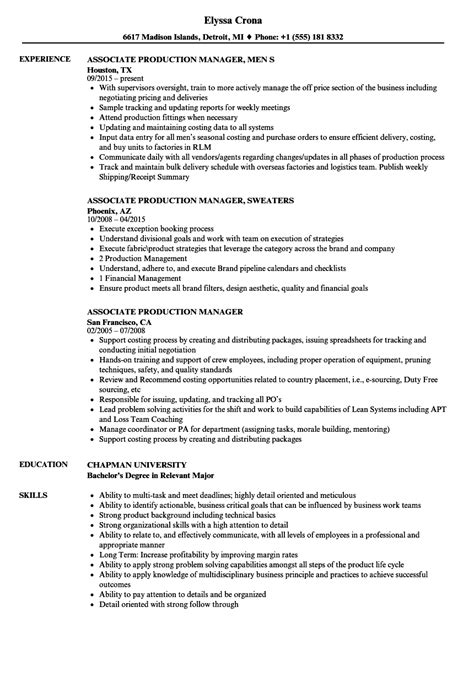 production manager cover letter sample livecareer