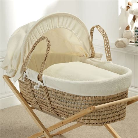 Crib Moses Basket by Cribs Moses Baskets Baroo Waffle Maize Moses