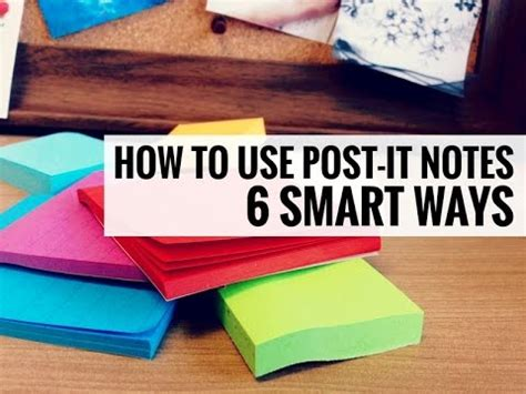 Post It Murah Sticki Notes 6 smart ways to use sticky notes post it notes techniques