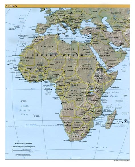 africa map 2000 africa physical map 2000 size