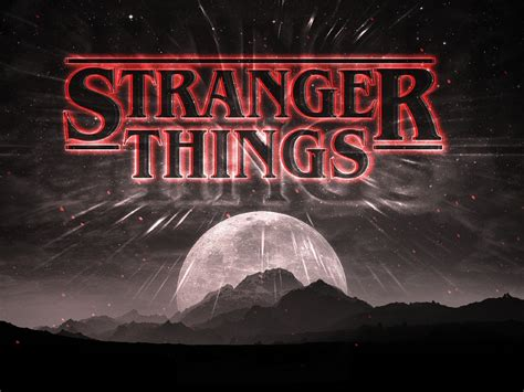 stranger  dark logo full hd wallpaper