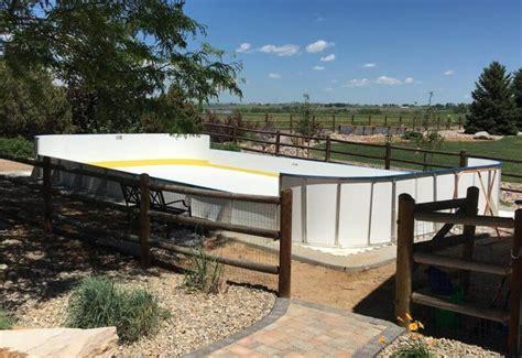 backyard synthetic ice rink synthetic ice basement and backyard rink kits hockey