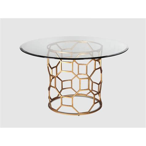 Glass Dining Table Uk Brompton Glass Dining Table Gold Finish Casa Uniqua