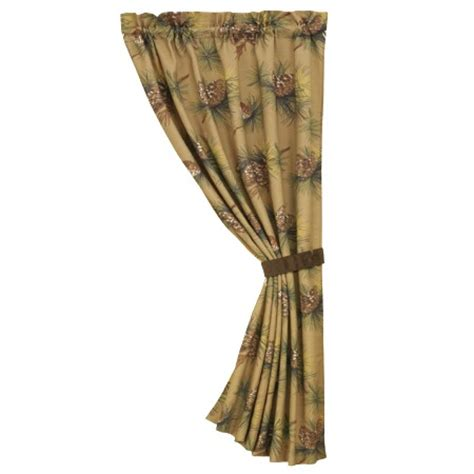 pine cone curtains crestwood rustic pine cone window curtain