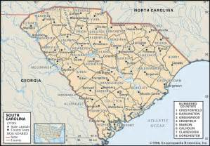 map of carolina major cities state and county maps of south carolina