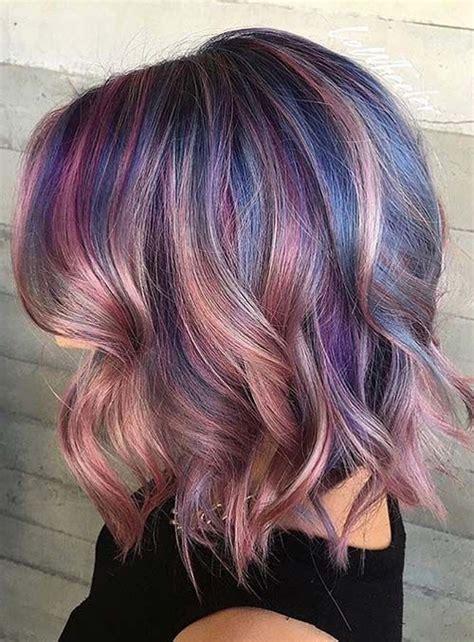 brunette hair gray riots 40 purple balayage looks herinterest com