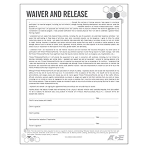 fitness waiver form template waiver and release form