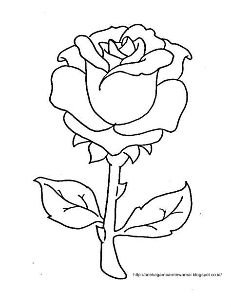 Untuk Anak Anak gambar mewarnai bunga mawar untuk anak paud dan tk aneka