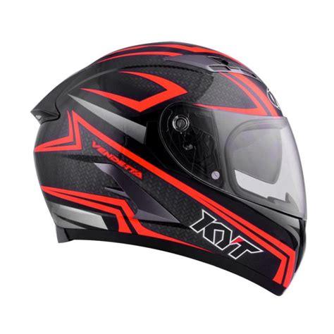 Helm Kyt Carbon jual kyt vendetta 2 carbon helm black fluo harga kualitas terjamin