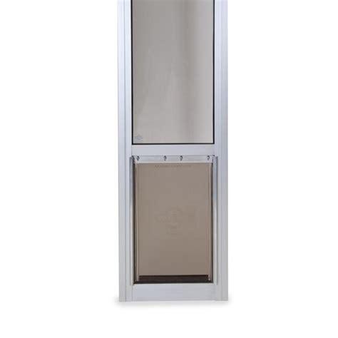Patio Panel Pet Door Shop Petsafe Patio Panel Medium Satin Aluminum Sliding Pet Door Actual 12 1875 In X 8 125 In
