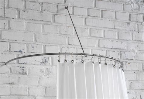semi circle shower curtain rail shower curtain semi circle rail dr 140 hw by phos stylepark