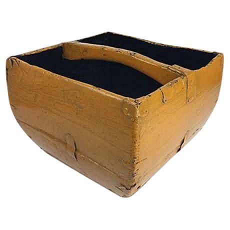 antique mustard yellow asian rice basket chairish
