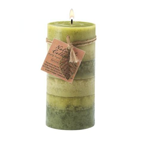 Wholesale Scented Candles Creek Serenity Aroma Pillar Candle 3x6 Scented