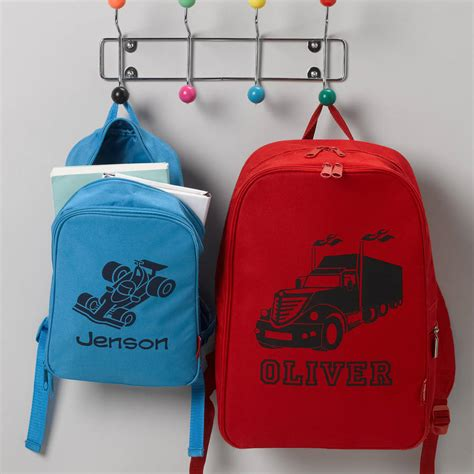 personalised child s rucksack by simply colors