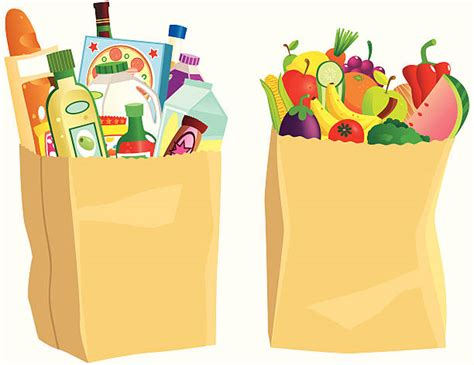 grocery bag clipart bag clipart supermarket shopping pencil and in color bag
