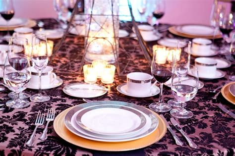 beautiful table settings elegant table setting melange catering demers banquet hall
