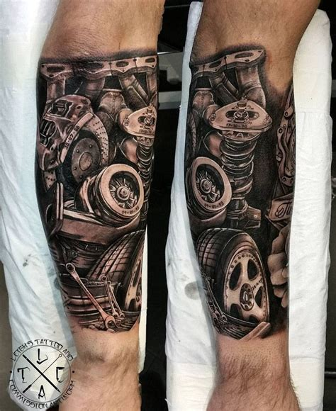 engine parts tattoo designs mechanic s forearm tattoos forearm
