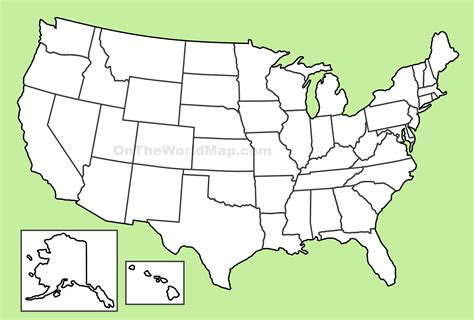blank map of the usa usa blank map