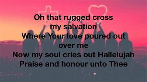 the rugged cross hillsong of sorrows hillsong lyrics