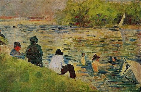 The Bank Of The Seine Georges Seurat Wikiart Org