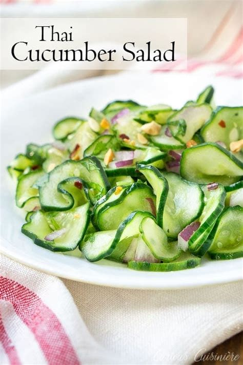 thai cucumber salad curious cuisiniere
