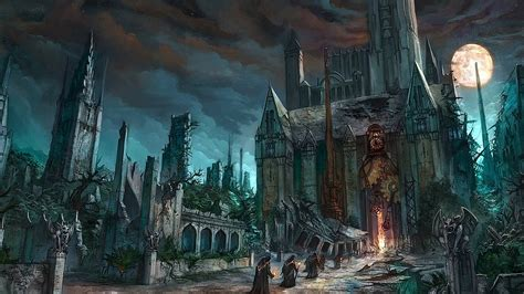 lay monster town a scary and awesome tower defense gothic art wallpapers wallpaper cave