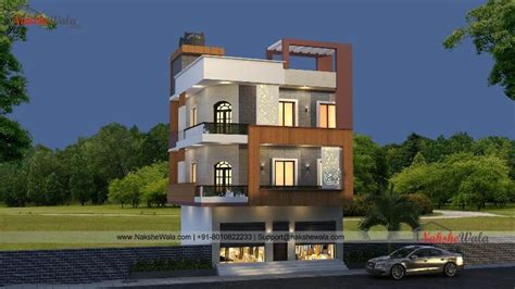affordable house elevation  triple storey home