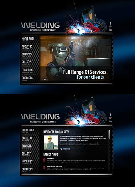 welding service html5 template best website templates