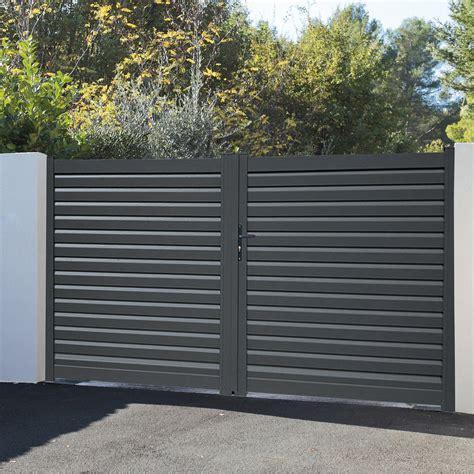 portail aluminium battant 4289 portail battant aluminium mixte naterial portail