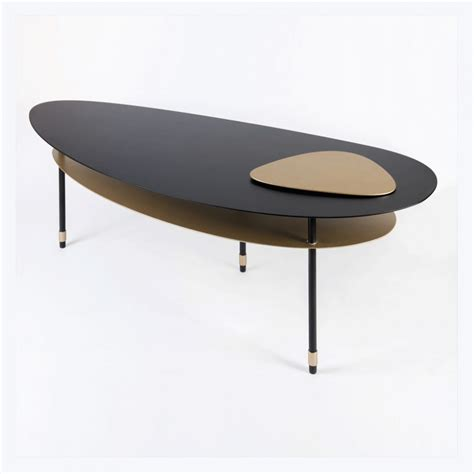 Table Basse Ronde Laquée by Table Basse Galet Galet Low Table Galerie Loft Table