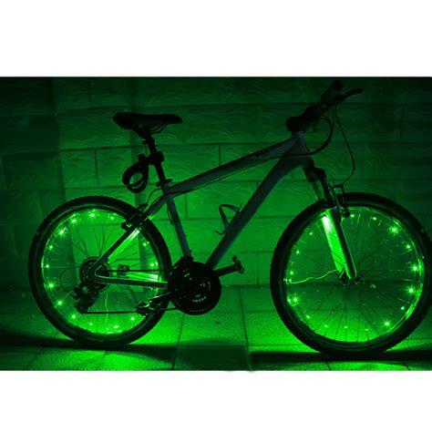 lights on wheels of a bicycle 20 led bicycle bike cycling spoke wheel light lights