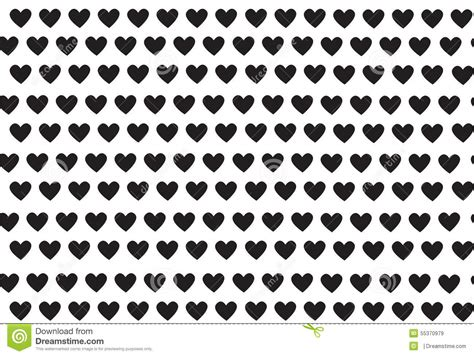 black heart pattern black hearts pattern with hearts vector stock vector
