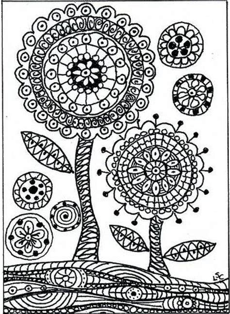 zentangle pattern printouts easy zentangle coloring pages zentangle flower g
