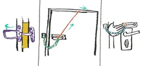 how to open a door chain lock or bar latch from the