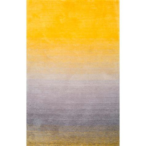 10 5 Ft X 8 Ft Rug by Nuloom Ombre Shag Yellow 5 Ft X 8 Ft Area Rug Hjos01a
