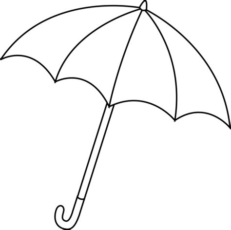 coloring page of umbrella free coloring pages of clip of umbrella
