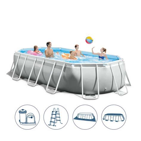 piscine da giardino intex piscina fuori terra ovale intex 26796 tubolare