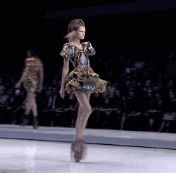 Contention On The Catwalk As Fashion Finds It Conscience by Kasia Struss Gif Find On Giphy