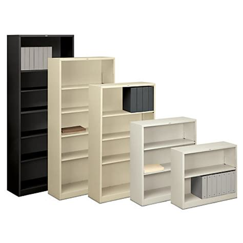 Hon Steel Bookcase Hon Brigade Steel Bookcase 2 Shelves Light Gray By Office