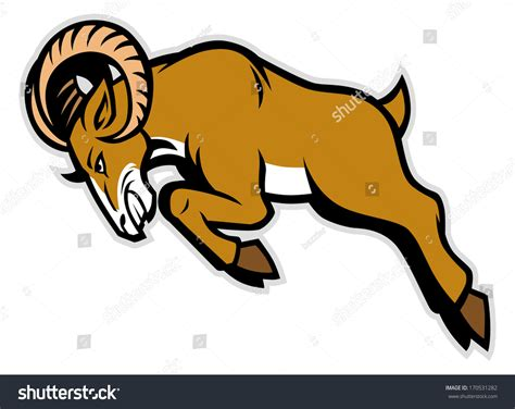 the rams free charging ram mascot stock vector illustration 170531282